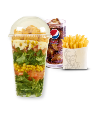 Popcorn Chicken Salad Pot Meal